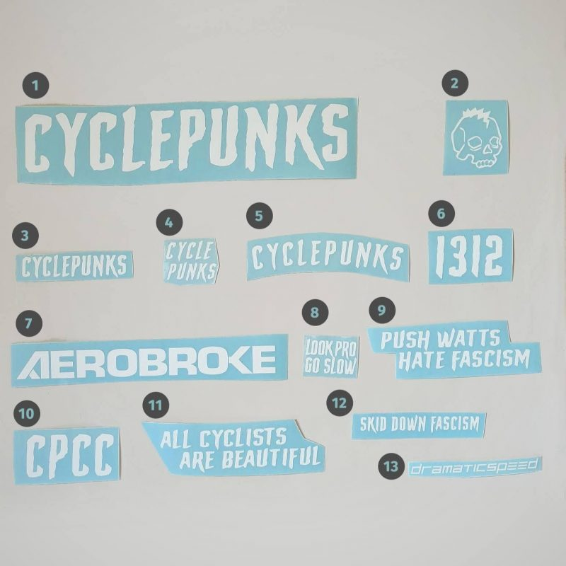 cyclepunks decals white