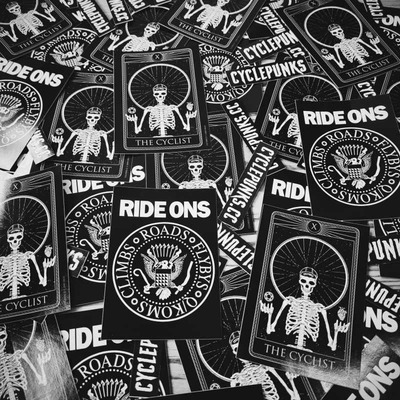 the cyclist, ride ons stickers