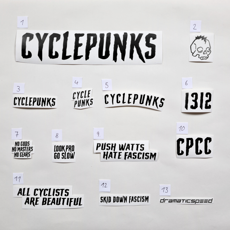 cyclepunks decals black